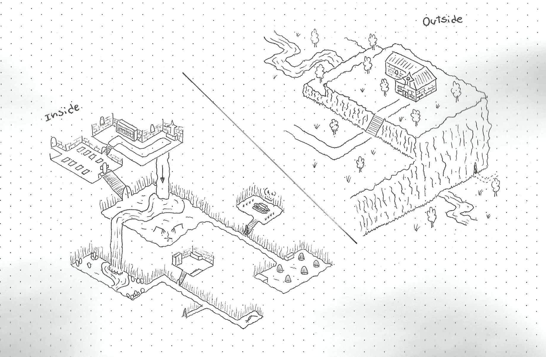 Oc First Attempt On Isometric Dungeon Drawing Dnd