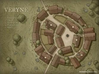 The Village of Veryne [Art] [OC] : DnD