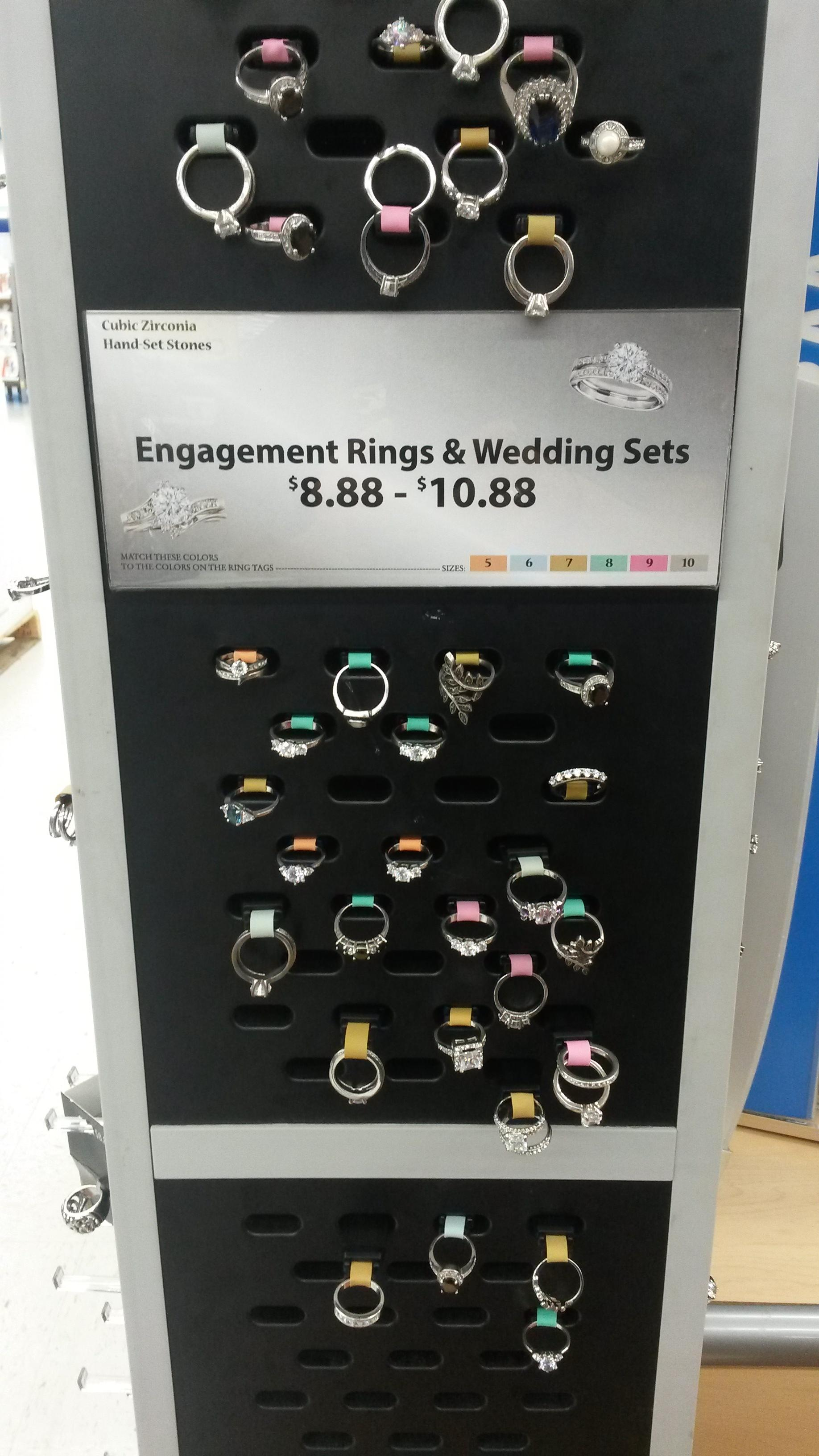 Are Walmart Wedding Rings Fake : walmart, wedding, rings, Wal-Mart's, Dollar, Engagement, Rings, Trashy