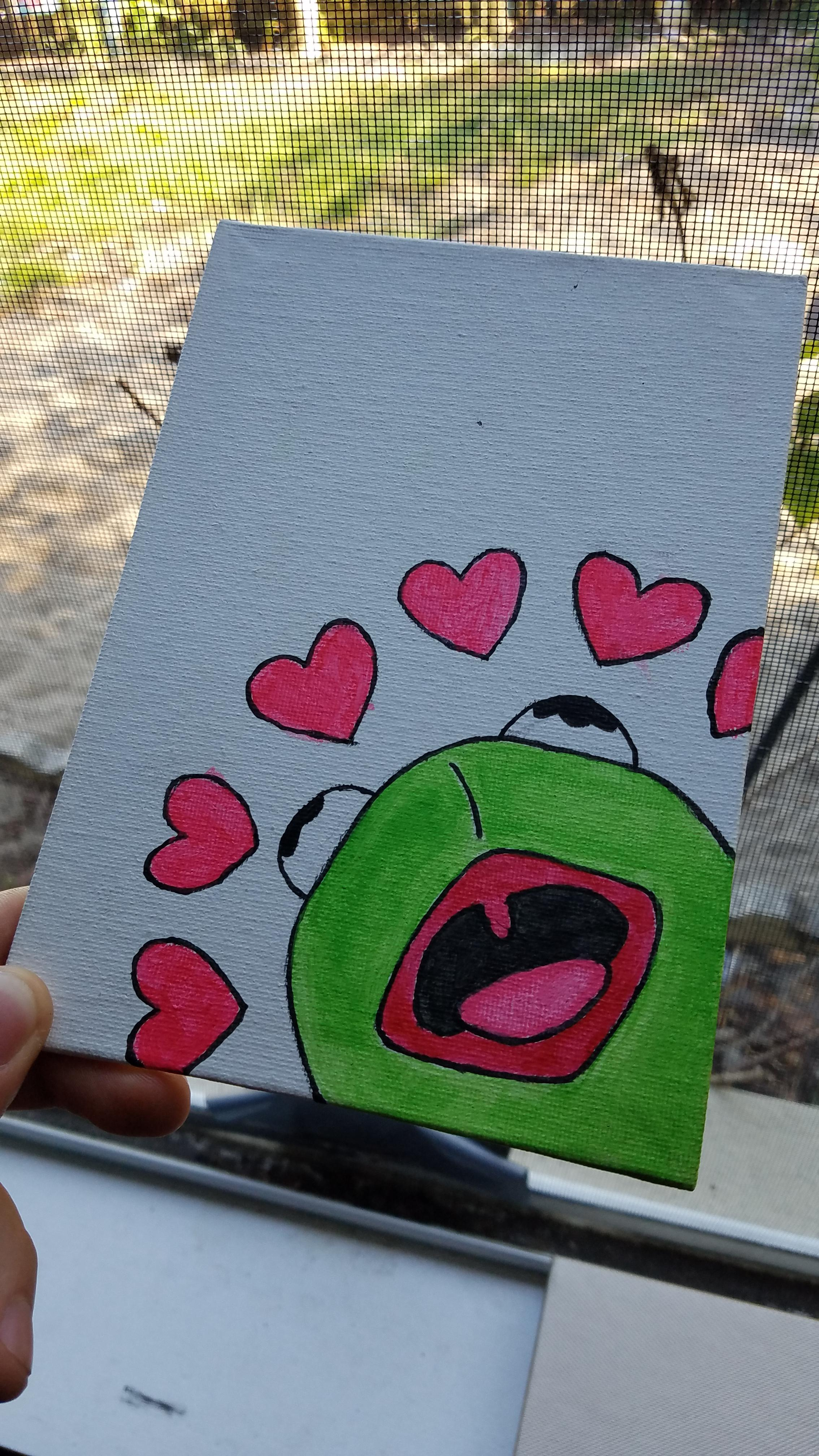 Kermit With Hearts Painting : kermit, hearts, painting, Kermit, Painting