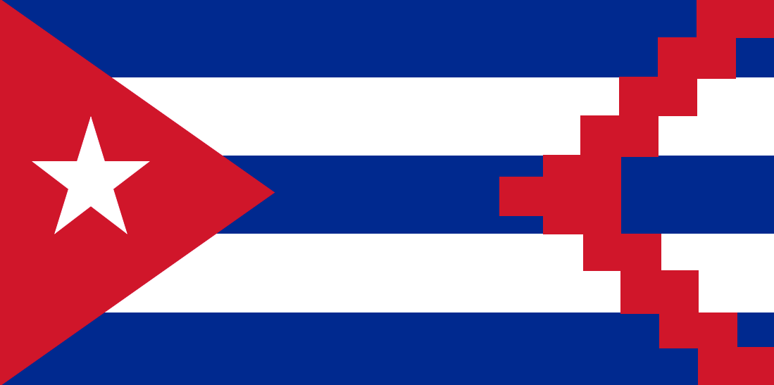 cuban disapora flag in
