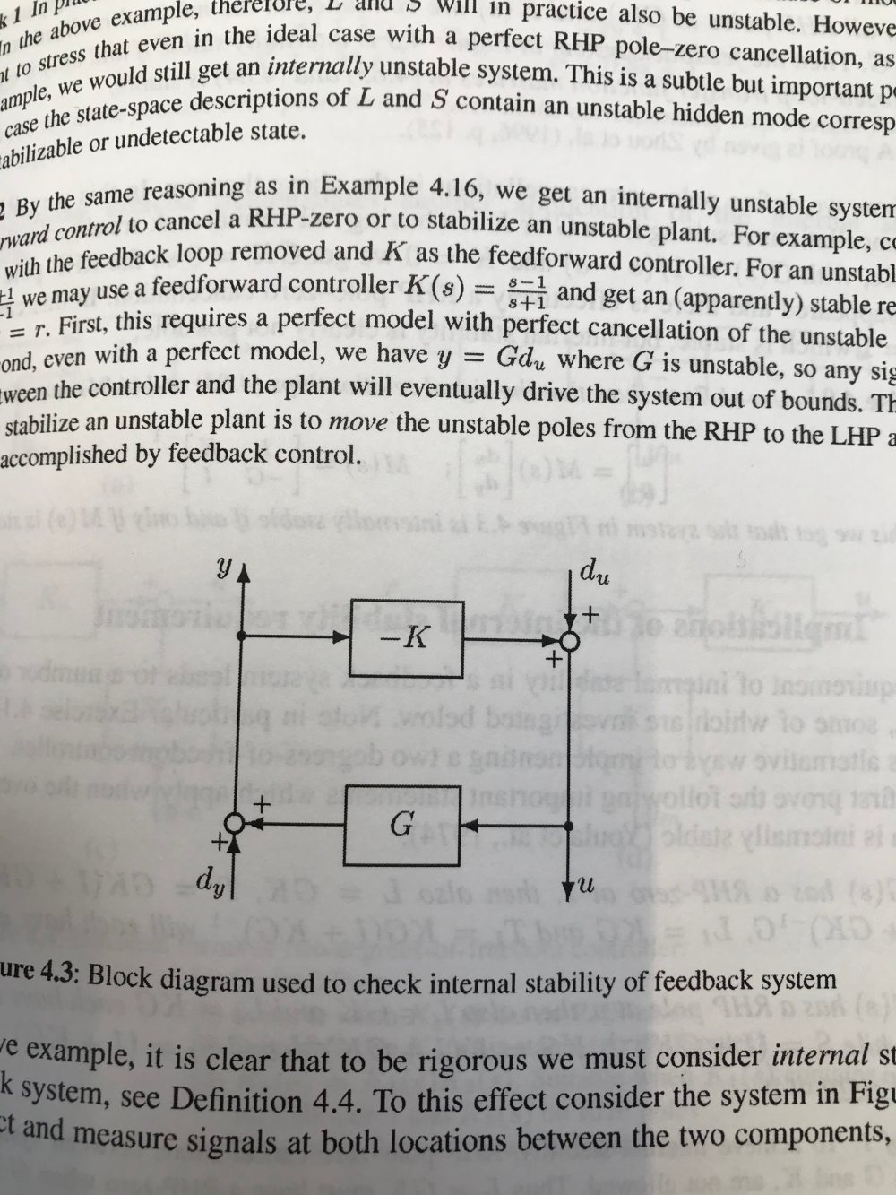 medium resolution of the block diagram is as shown in the picture the book says that u i kg 1 du k i gk 1 dy how is this possible from my understanding shouldn t u