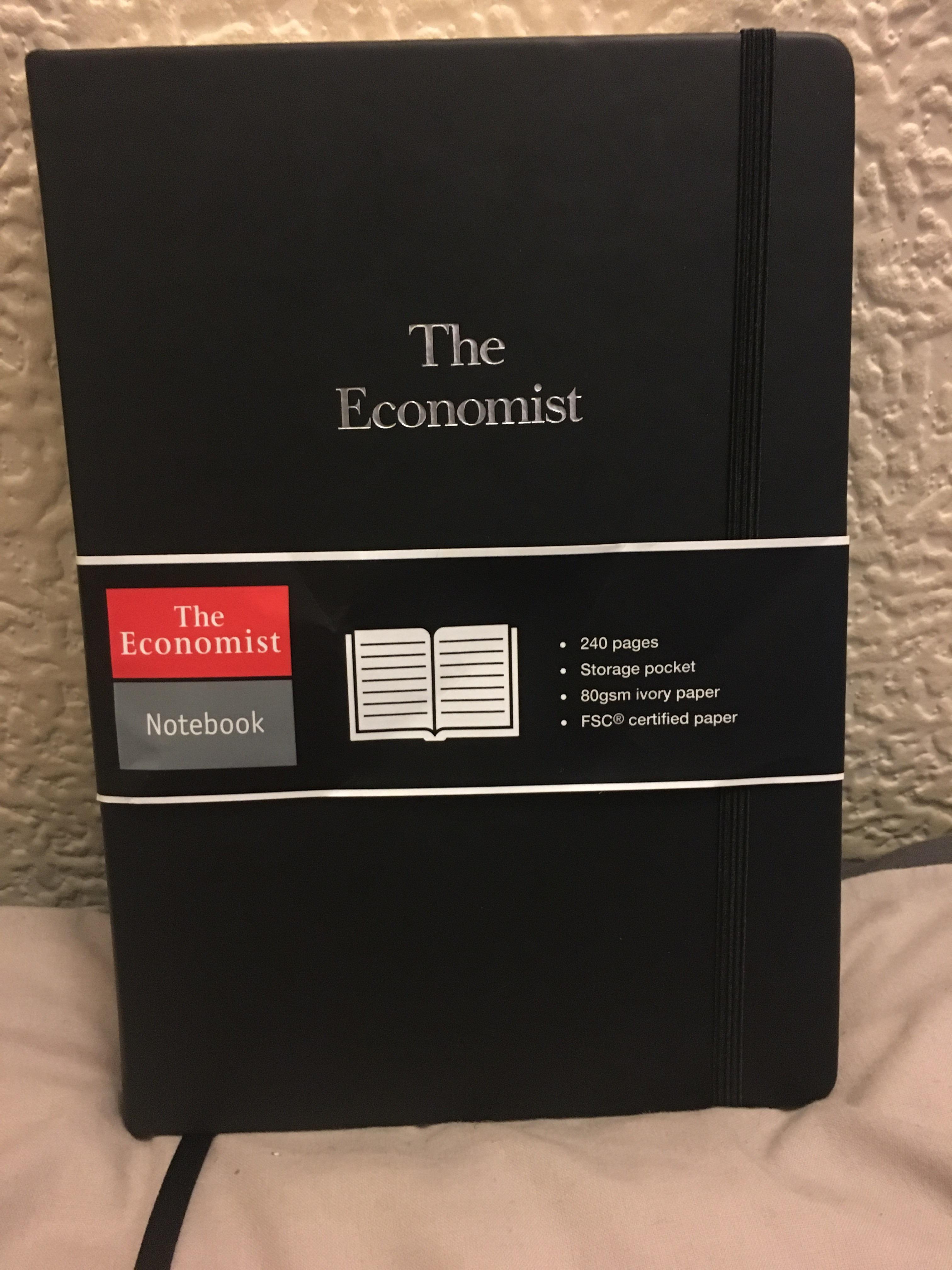 promotional the economist notebook