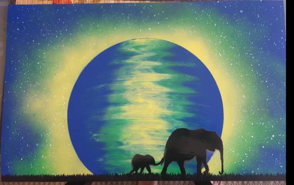 Elephant Spray-Paint Art