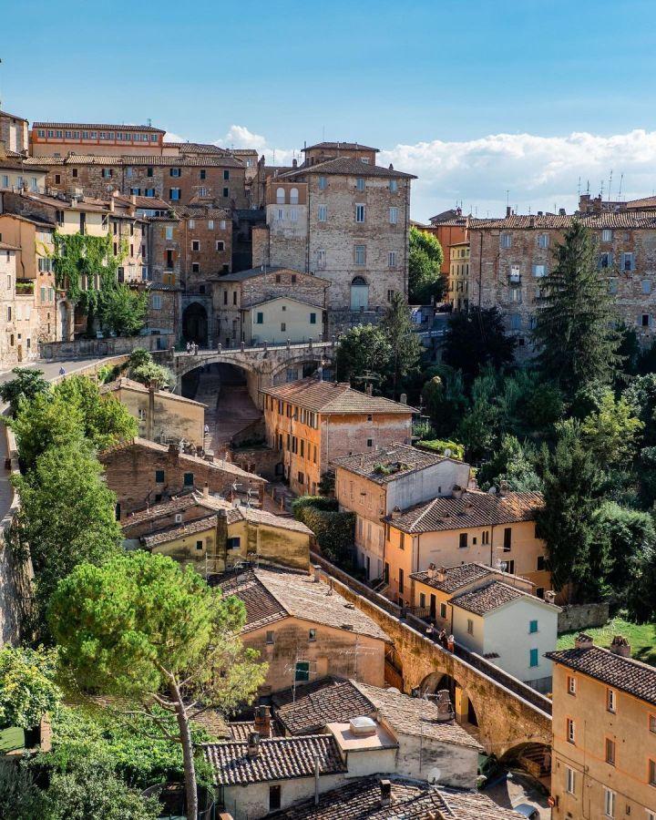 Roman Aqueduct Walk, central Perugia Umbria Italy