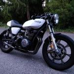 My 1977 Yamaha Xs750 Cafe Racer Beautifully Restored And Brought Back To Life By My Dad After My Mechanical Skills Didn T Quite Cut It Videos Of It Riding Coming When It Dries