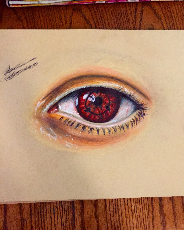 Sharingan Eye Drawing : sharingan, drawing, Drawing, Realistic, Sharingan