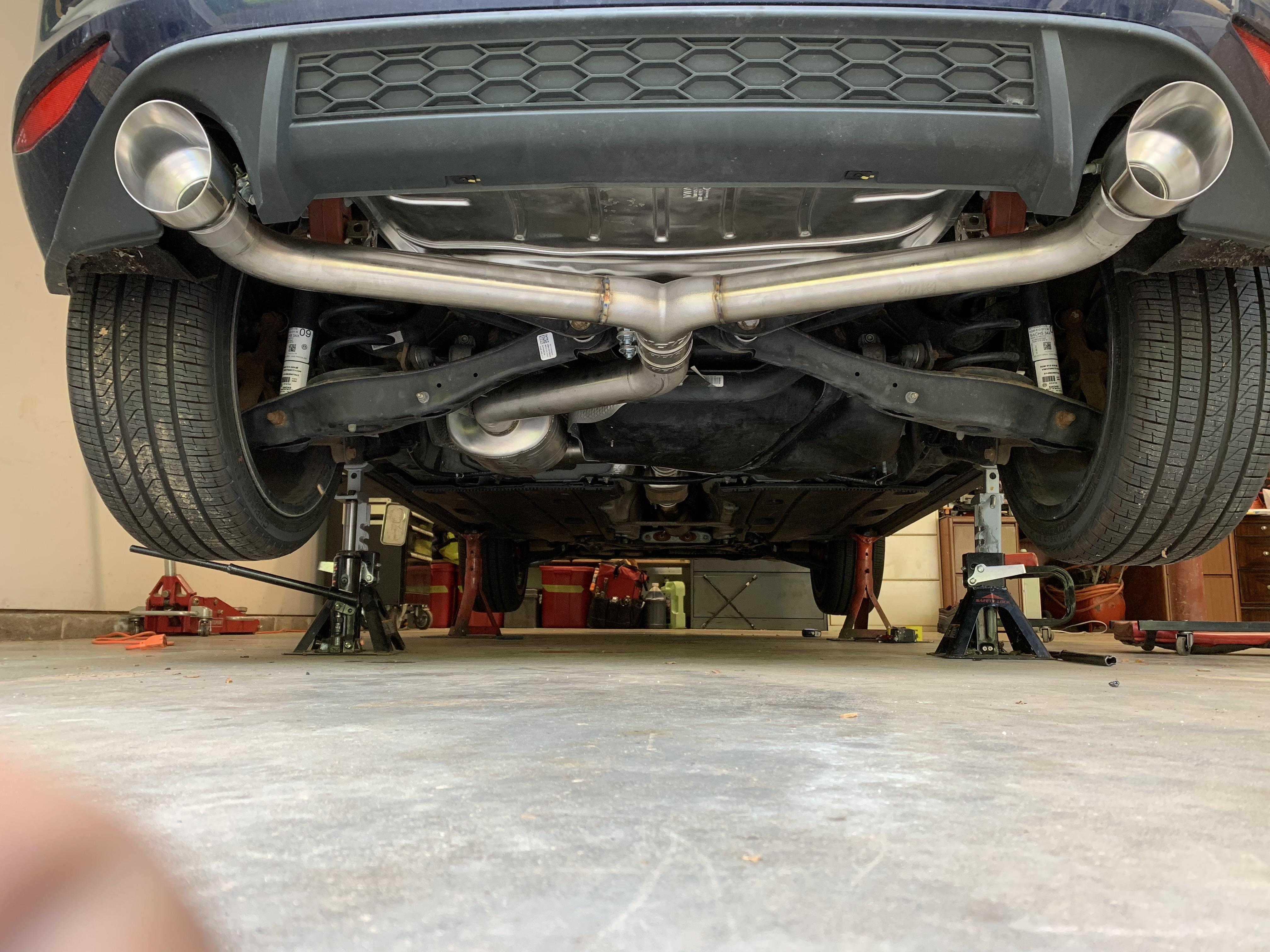 installed an apr catback exhaust and i