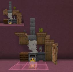 Neat little kitchen design : Minecraft