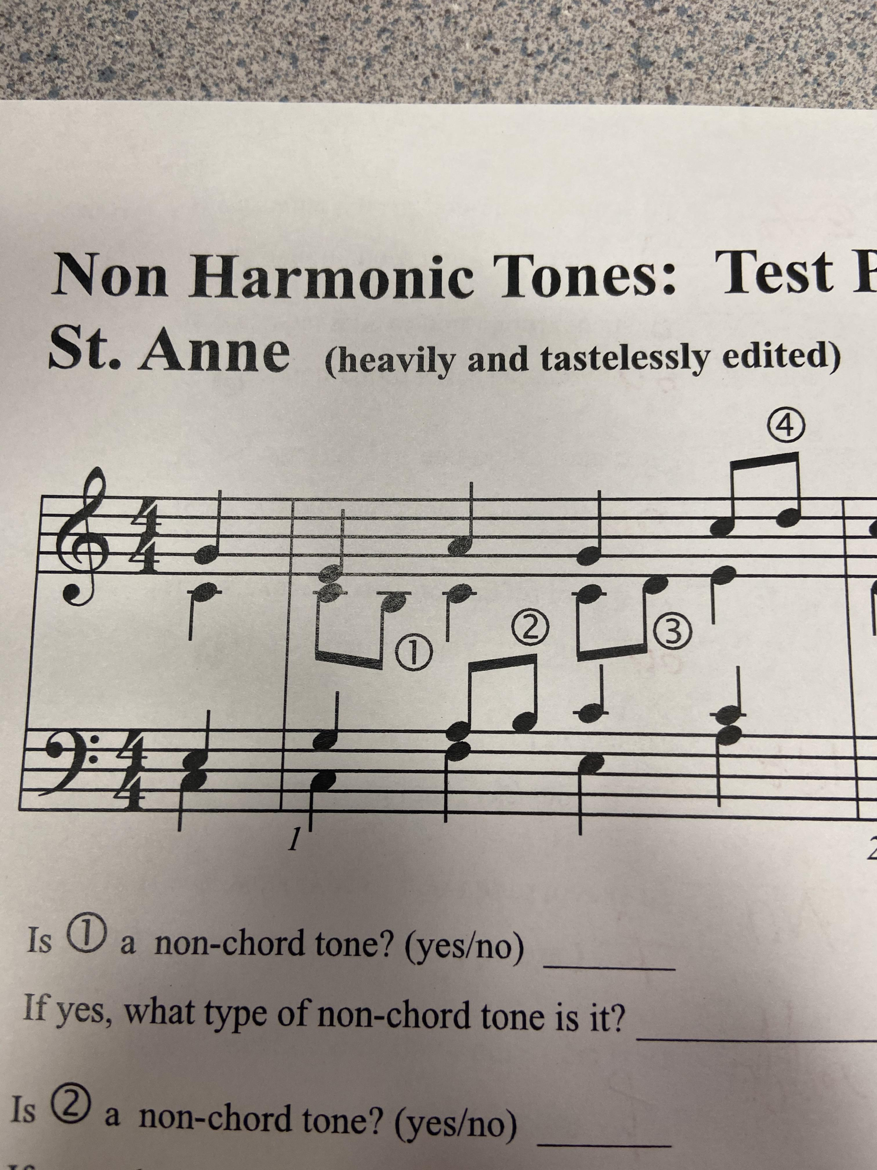 Found This In Non Harmonic Tones Practice Musictheorymemes