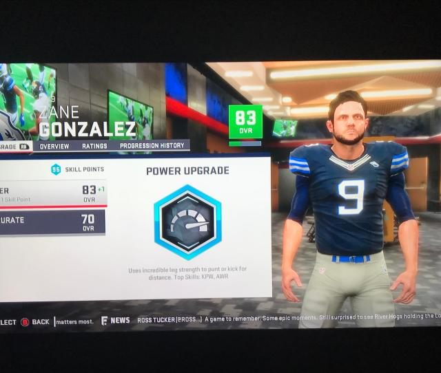 Greatest Franchise Glitch 90 Skill Points Just For Winning The Super Bowl In Madden 19 Happened With Fullback Kicker And Punter
