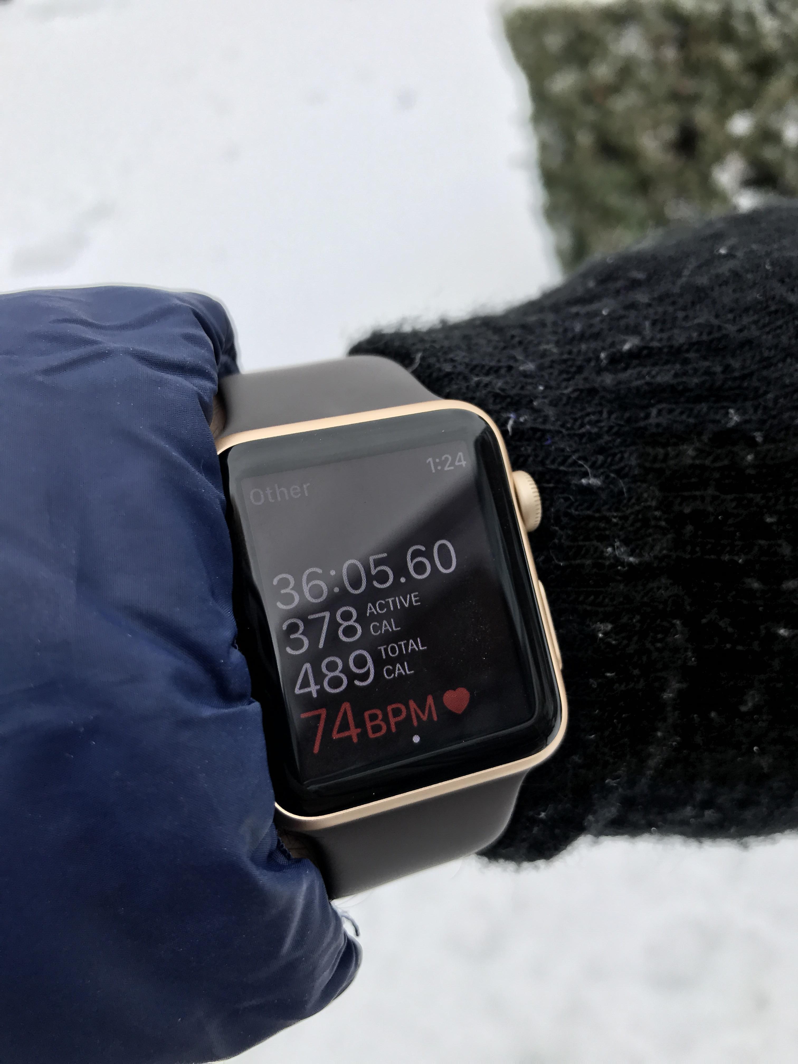 Apple Watch Chest Strap : apple, watch, chest, strap, Gotta, Shoveling, AppleWatch