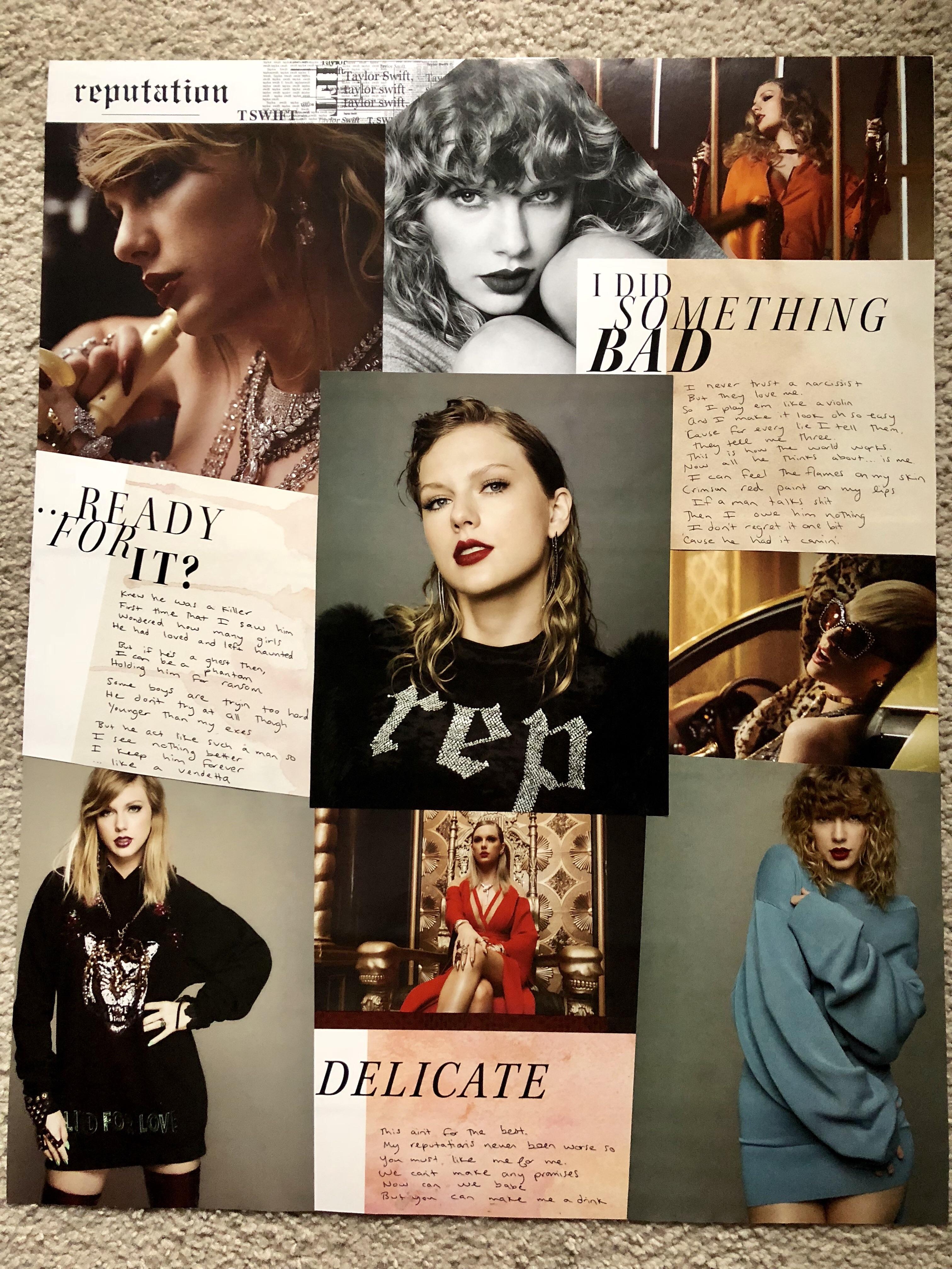 reputation album magazine into a poster