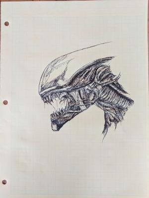 Simple Xenomorph Drawings 5