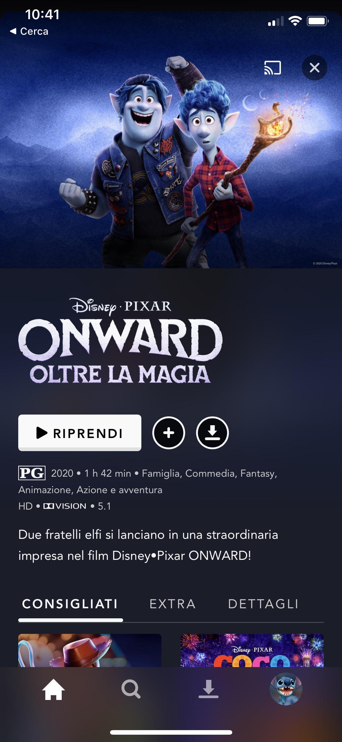 onward cover is translated in italian