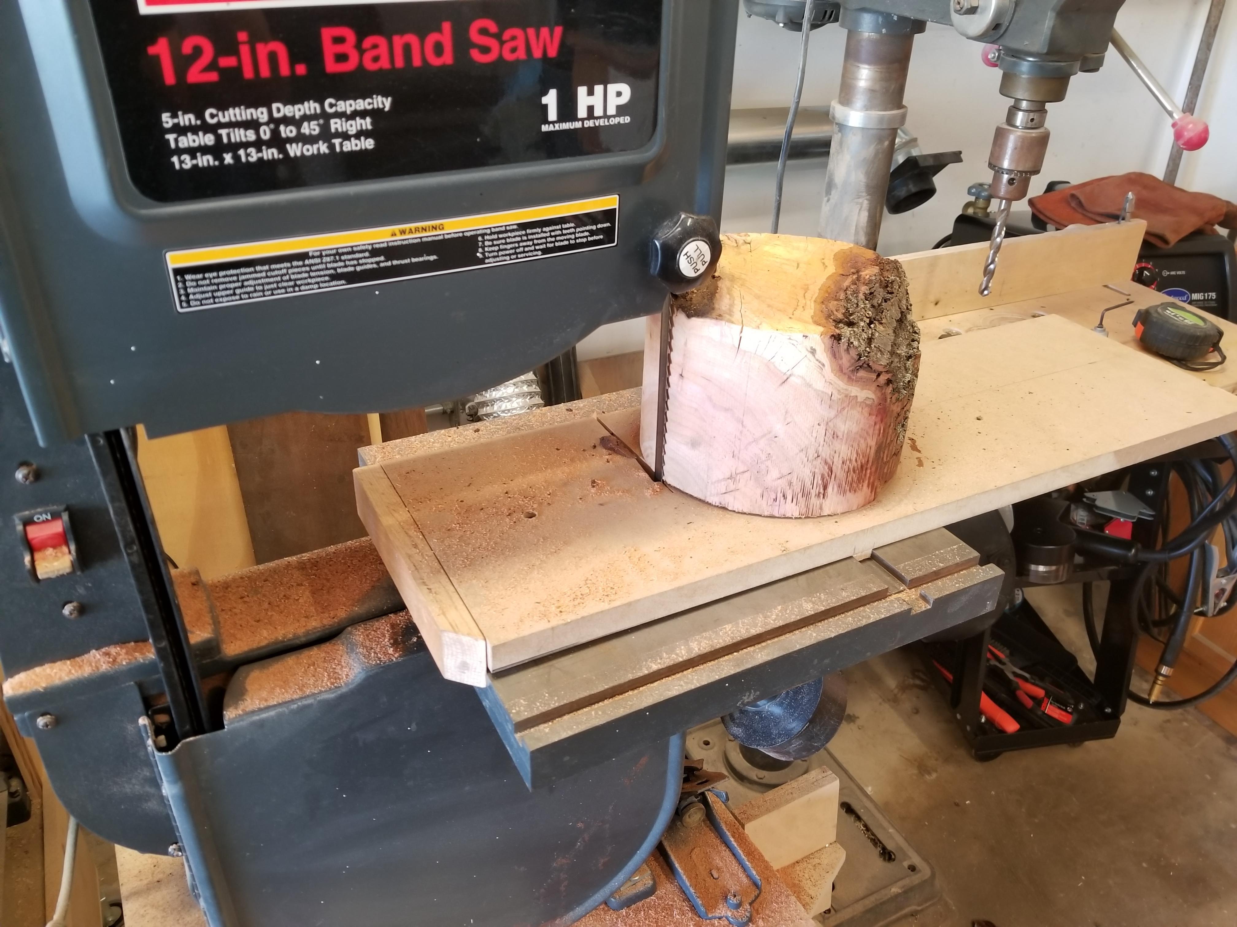 Bandsaw Bowl Blank Jig