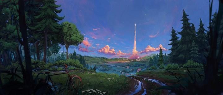 Rocket Launch (2560×1080)