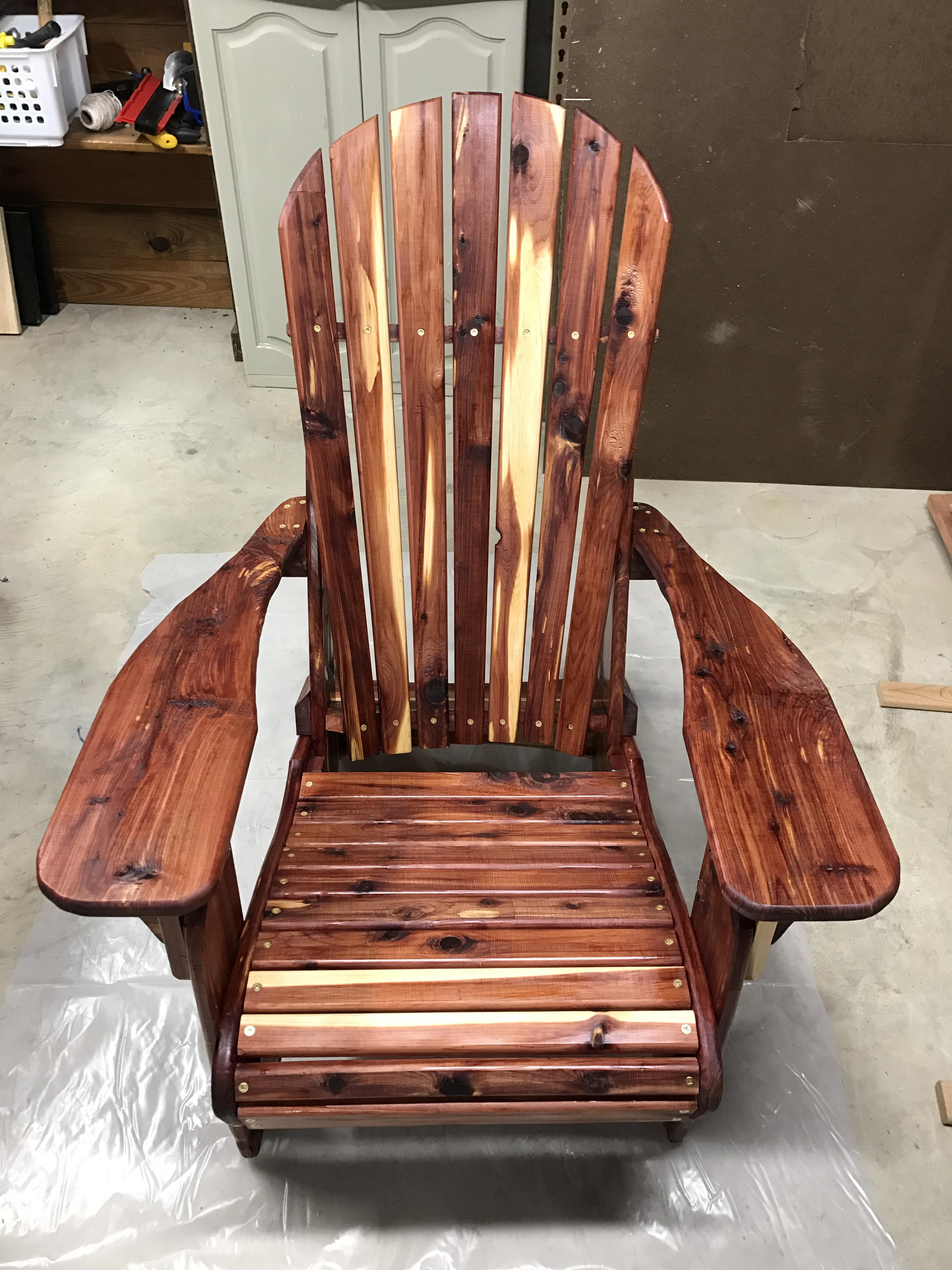 Adirondack Chair Made With Red Cedar And Sealed With