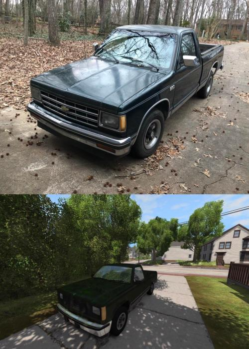small resolution of recreated my mom s 1985 chevorlet s 10 in beamng drive to the best if my ability including giving it a 6 cylinder engine 5 speed manual and rear wheel