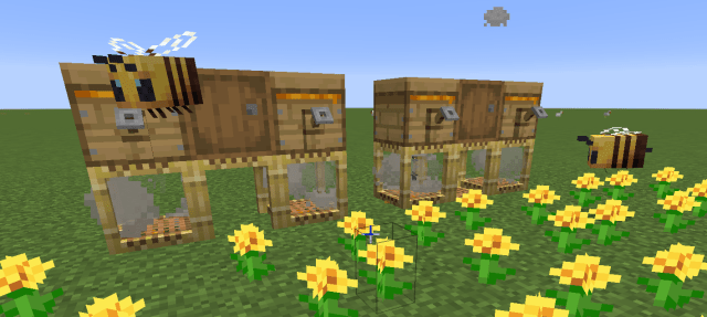 A neat lil beehive design that I made.: Minecraft