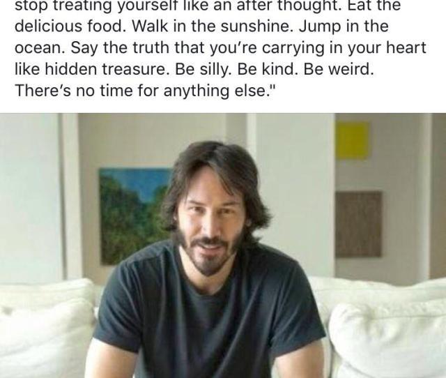 Wholesome Keanu Reeves