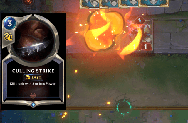 I feel disturbed that Culling Strike is causing an explosion. : LegendsOfRuneterra