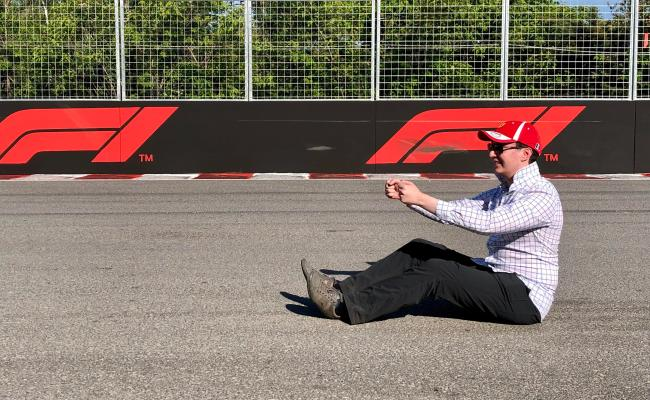 Sat On Track After Canadian Grand Prix Formula1