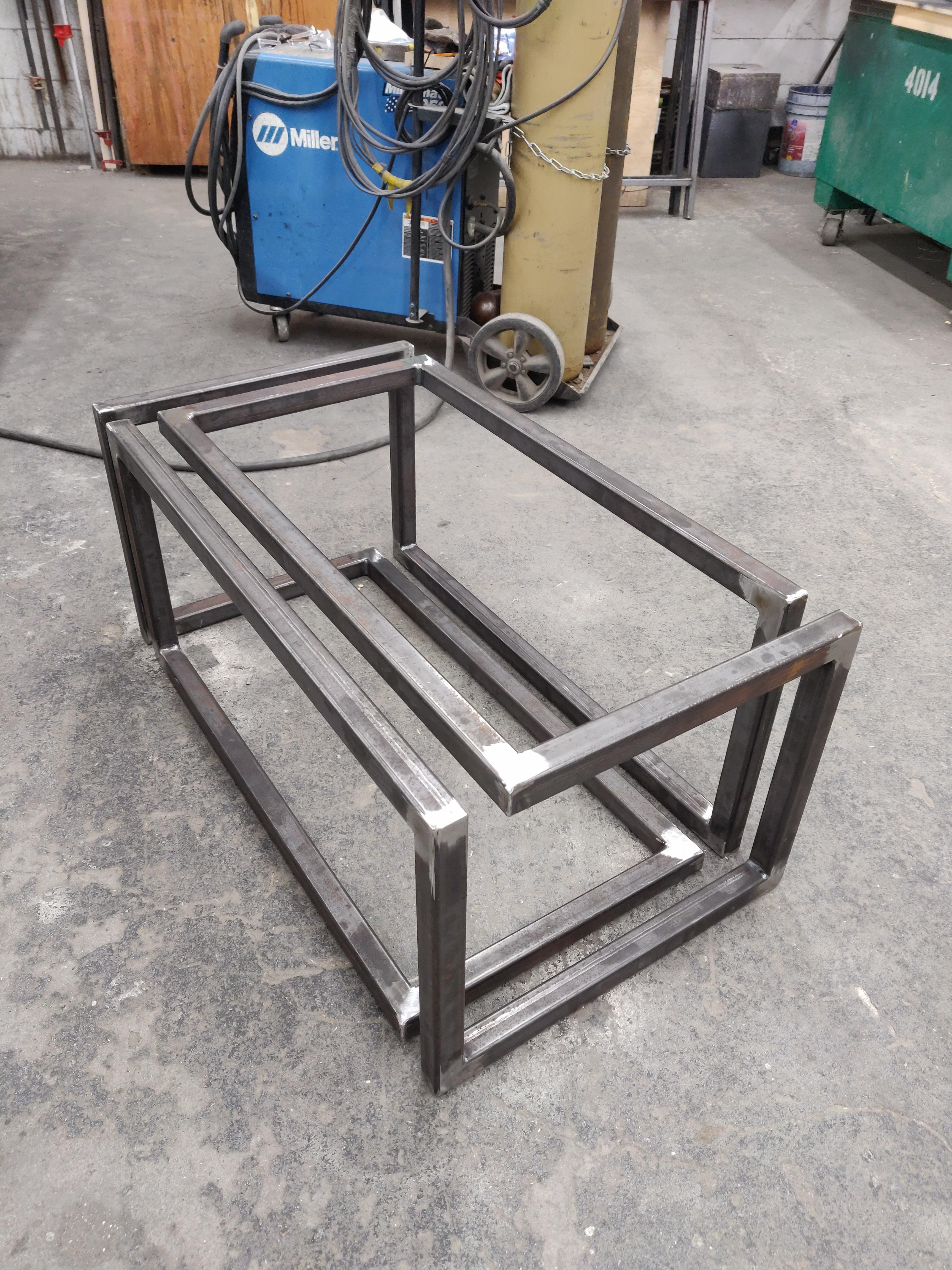 my take on the infinity coffee table my first ever welding project definitely not my last welding