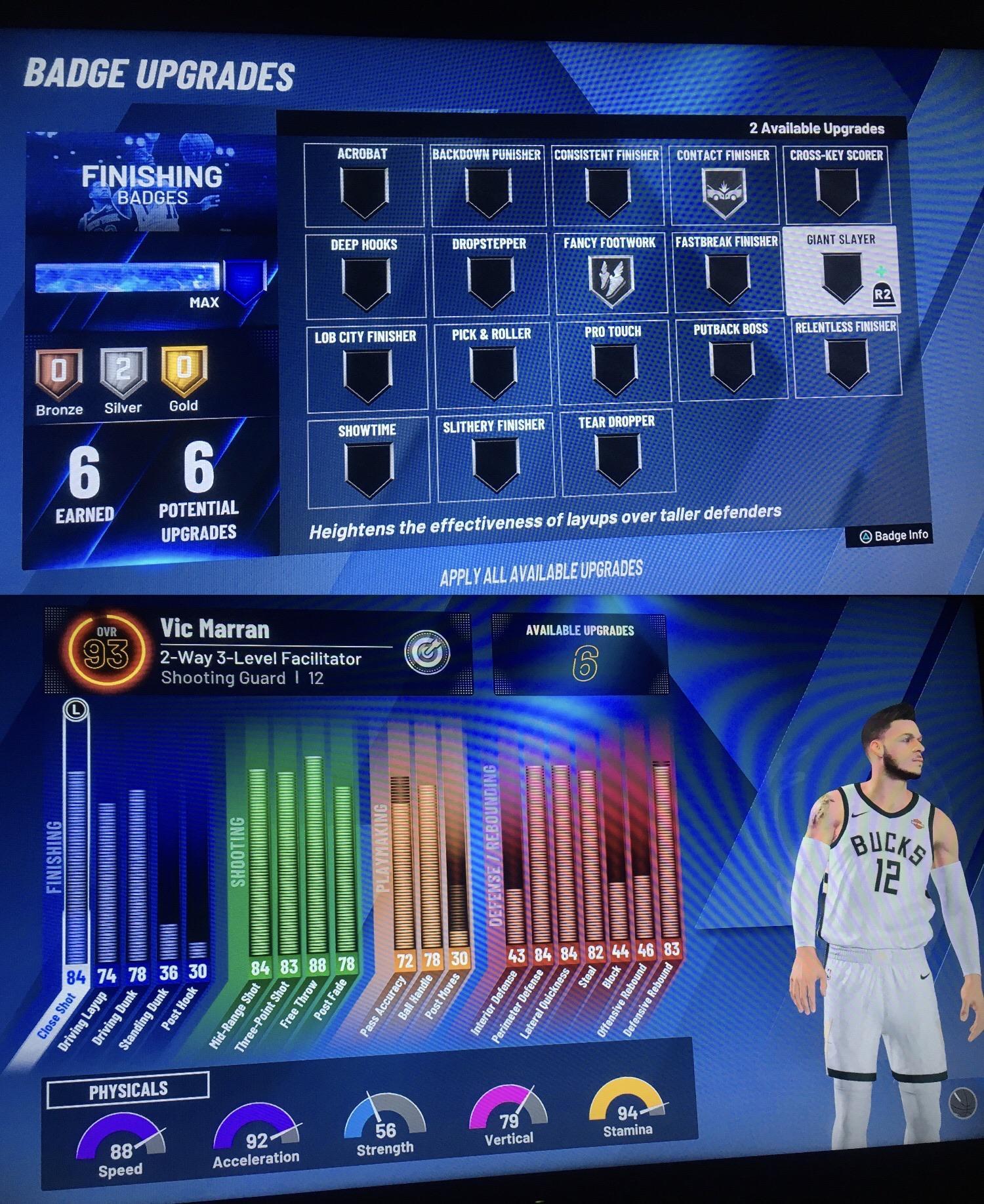 2k20 Finishing Badges : finishing, badges, Deciding, Finishing, Badges, Indecisive, Between, Acrobat, Giant, Slayer., NBA2k
