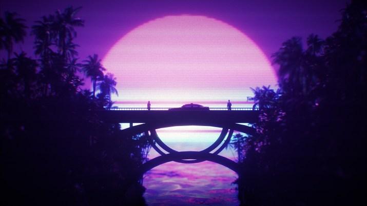 bridge at sunset [2560×1440]