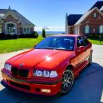 My 21 Year Old E36 M3 Hellrot Red Brand New Everything Bbs Ch R S Afe Intake Corsa Uuc Catback 212 000 Miles Still Runs Like New I Love My Bimmers Bmw