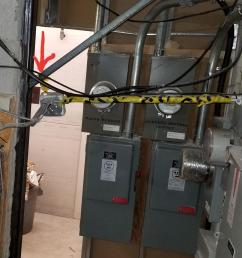 didn t know caution tape was good for electrical box support wonder how many lbs it s rated  [ 2957 x 2218 Pixel ]