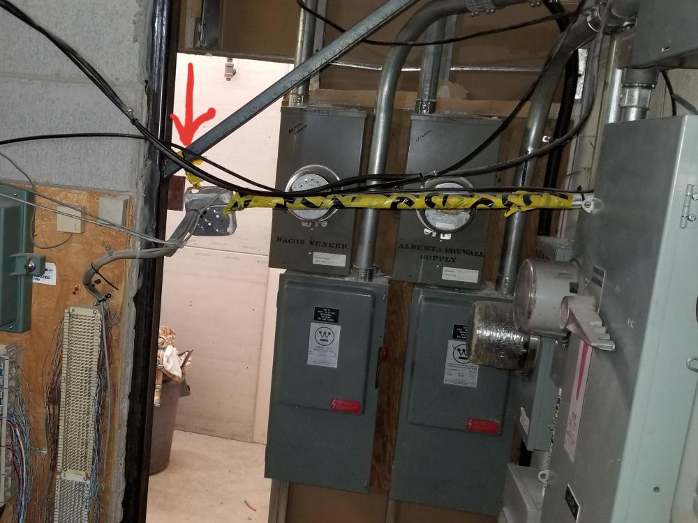 medium resolution of didn t know caution tape was good for electrical box support wonder how many lbs it s rated