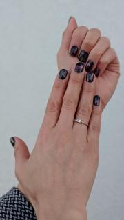 black moonstone and garnet inspired