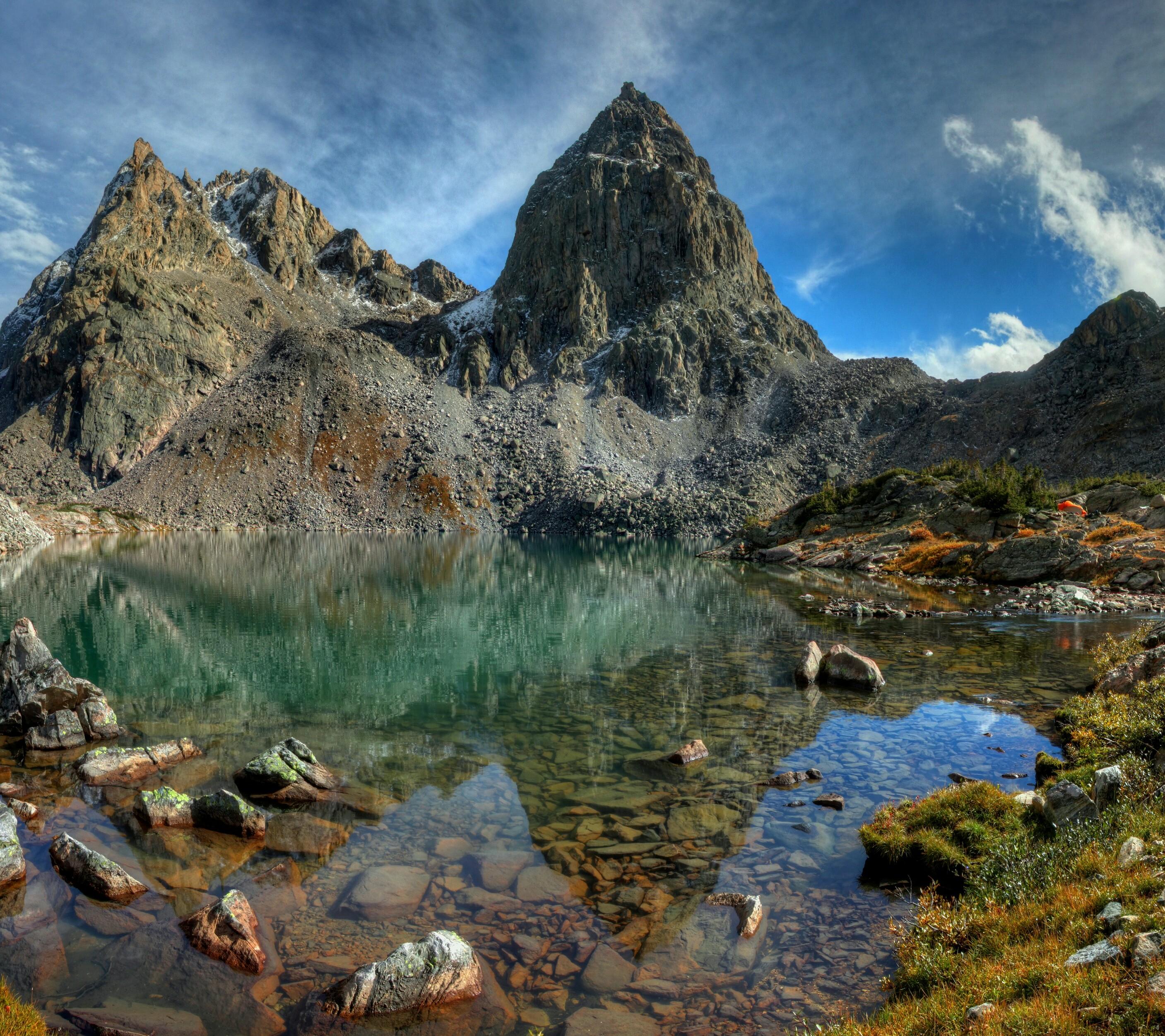 Peak Lake Wind River Mountains Wy Oc X