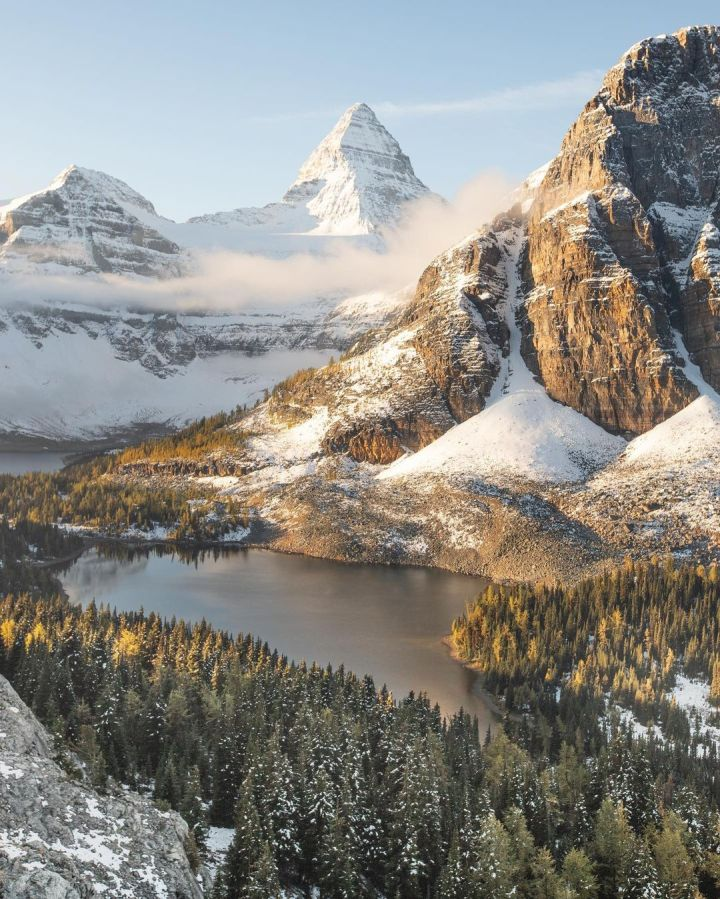 Mount Assiniboine, Southern Continental Ranges of the Canadian Rockies (Photo credit to Scott C Bakken)
