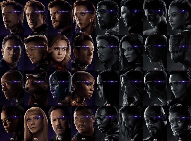 Marvel Studios releases thirty-two 'Avengers: Endgame' character posters