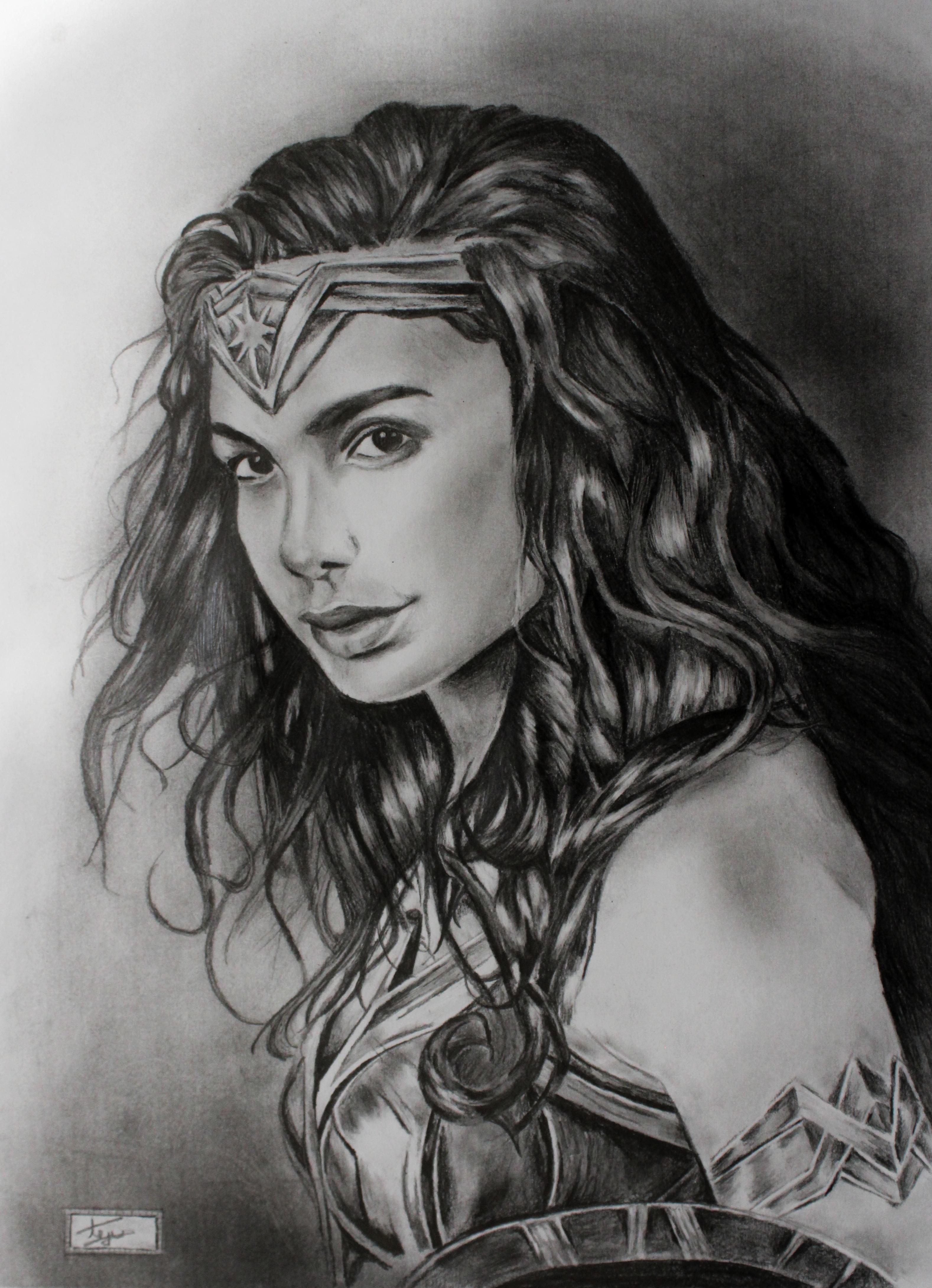Woman Pencil Sketch : woman, pencil, sketch, Pencil, Sketch, Wonder, Woman., Share, Advice, Opinions, Drawing