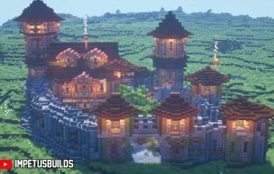 My Medieval Fantasy Castle which I was pretty proud of What do you think? : Minecraftbuilds