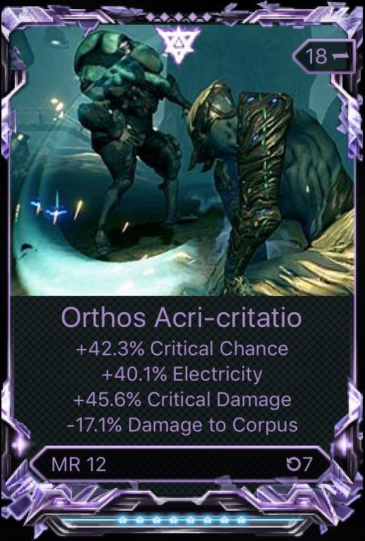 Orthos Prime Build : orthos, prime, build, Q][PC][RIVEN], Roll,, Worth?, Wartrade