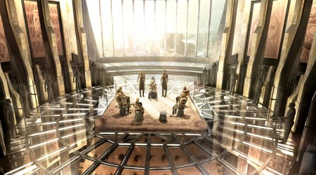 panther throne concept palace room wakanda production designer marvel shaped heart herb futuristic african ruth carter movie beachler hannah nation