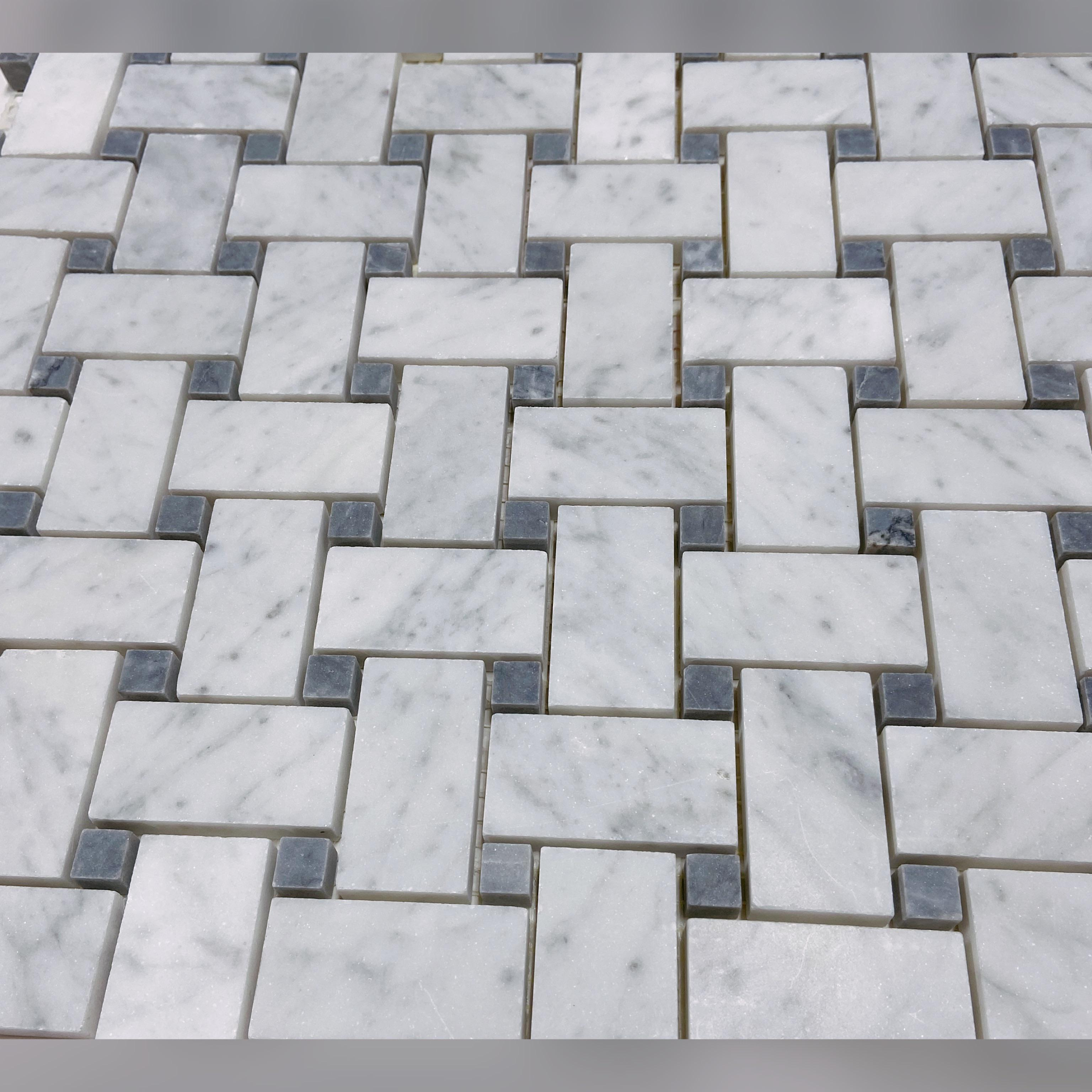 basket weave marble tile i used this