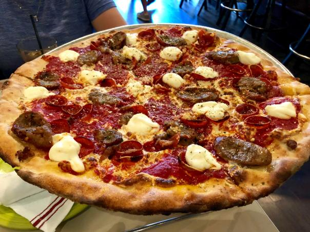 "The ""New Yorker"" from Tony's Pizza Napoletana in San Francisco rivals the  majority of pies I've eaten in NY. The sausage and dollops of ricotta make  the perfect pie! : Pizza"