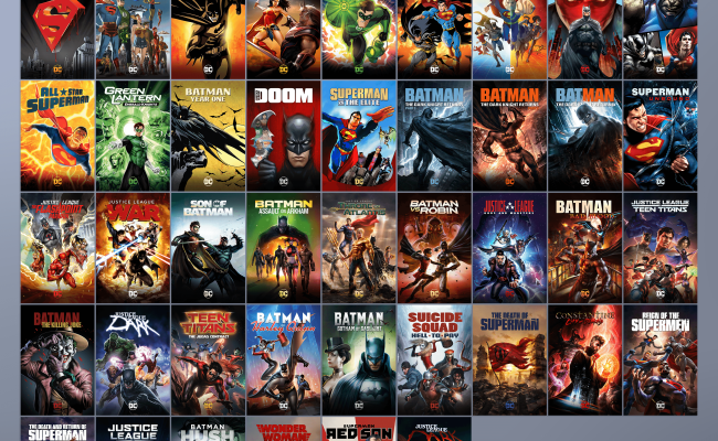 Collection Dc Universe Animated Original Movies Including Dcau Movies Dcamu Stand Alone