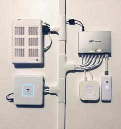 my humble home install powering 2 ac lr and 1 ac pro ubiquiti inside wiring best practices att uverse faq dslreports isp [ 3014 x 3014 Pixel ]
