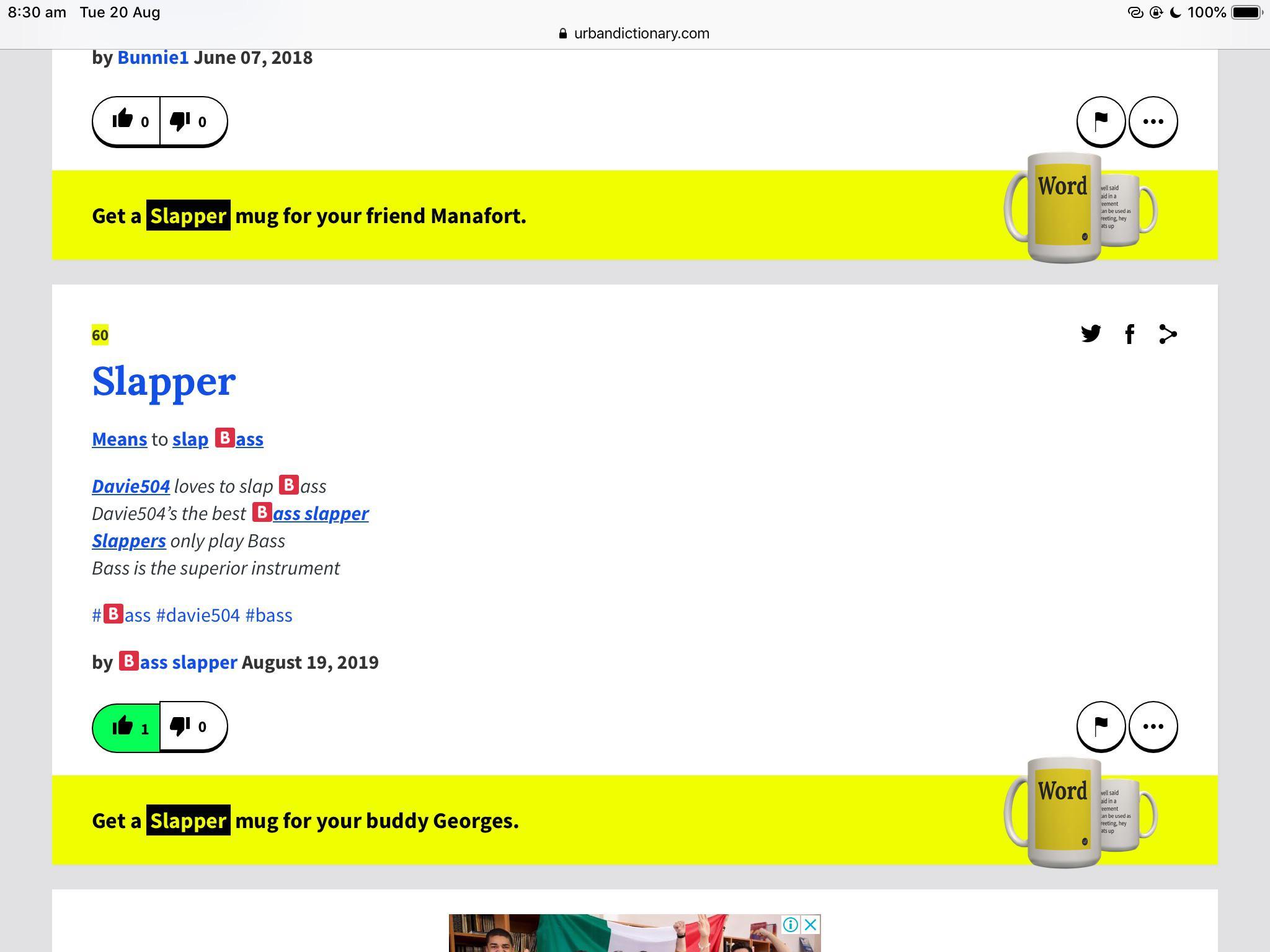 the definition for slapper