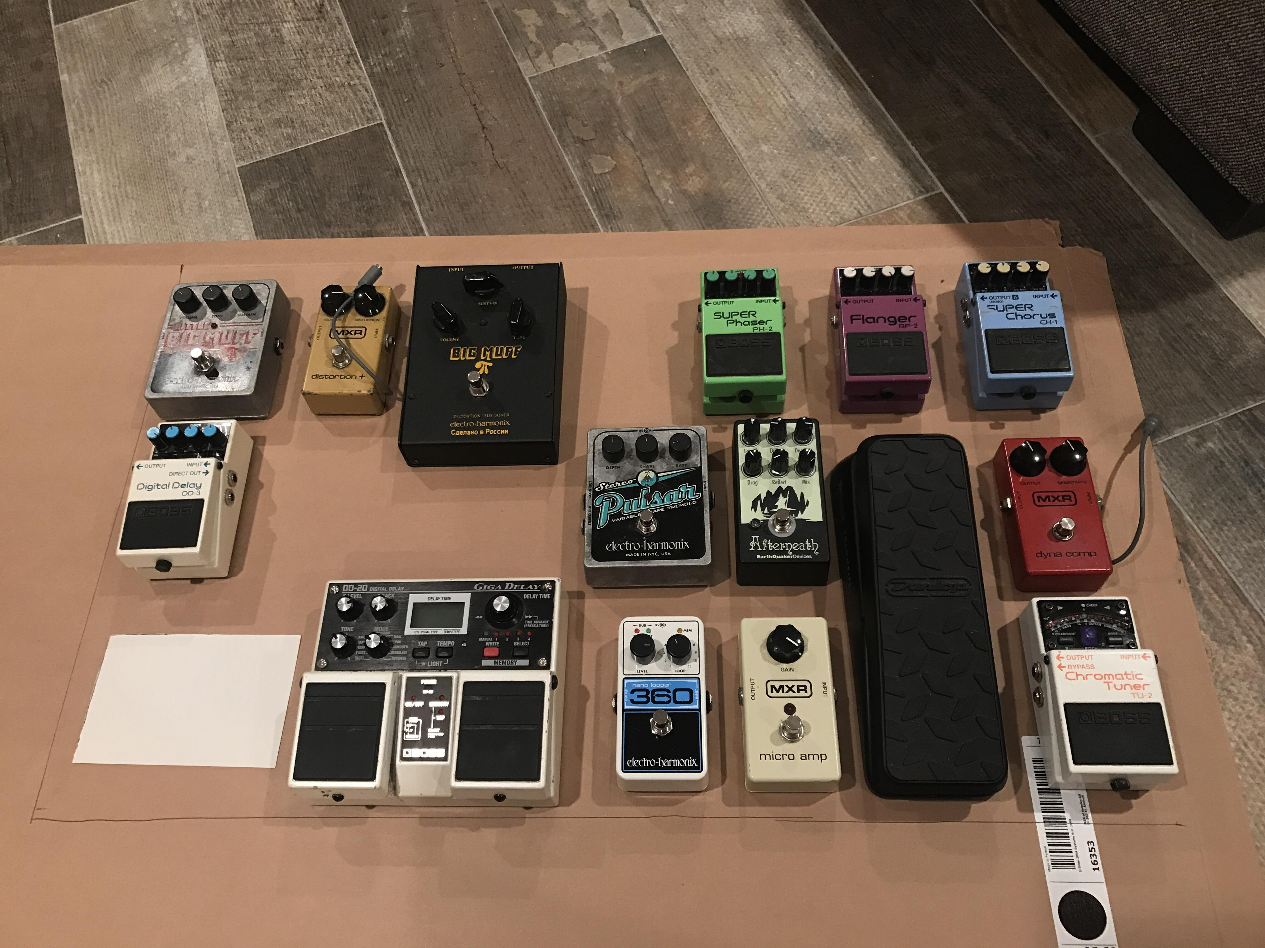 planning for new pedalboard