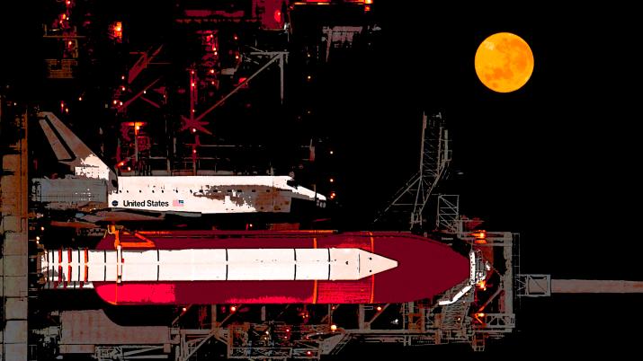 [2560 x 1440] Spaceship Launch