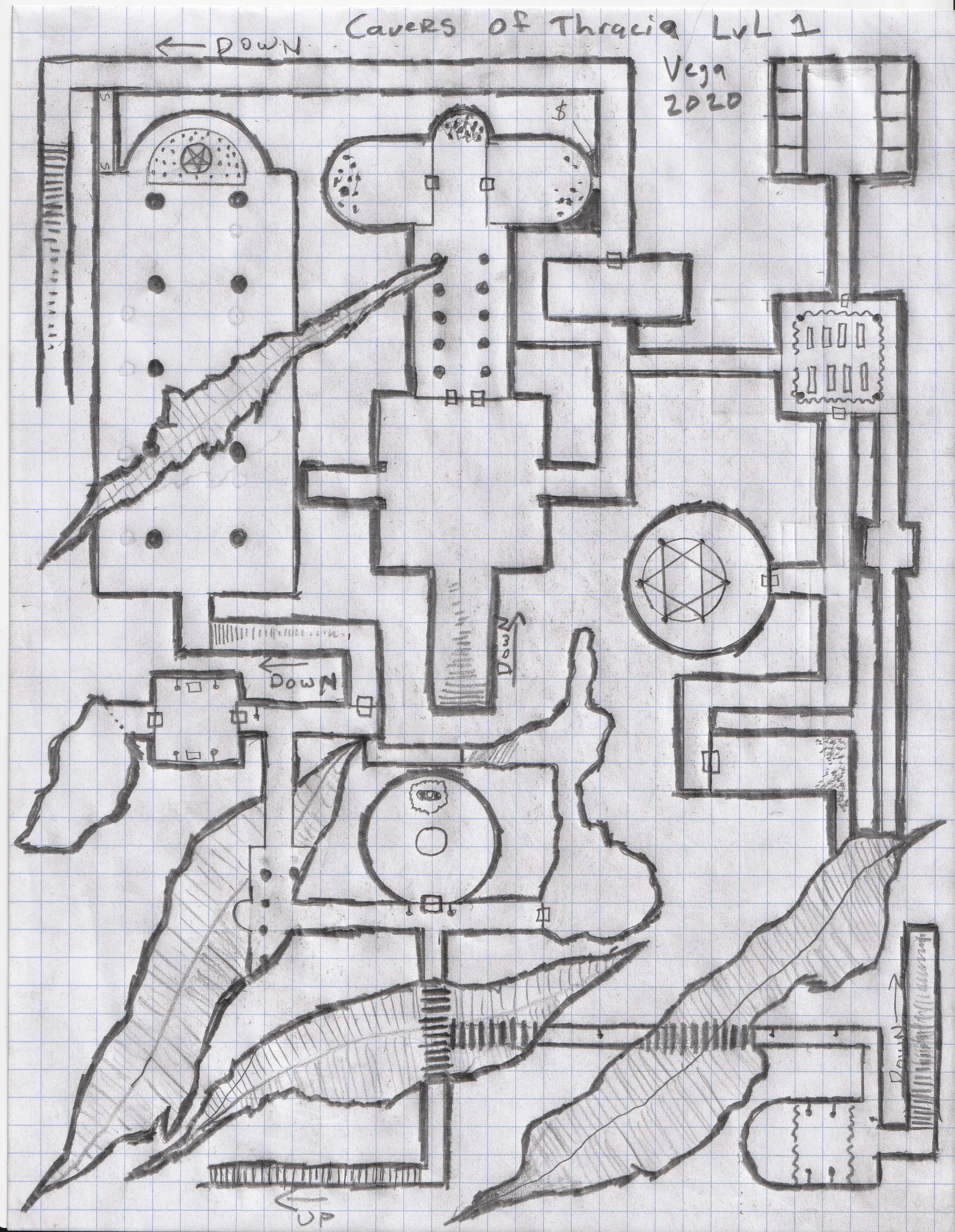 Caverns Of Thracia : caverns, thracia, Caverns, Thracia, Redrawn, Traps, Secrets, Dndmaps