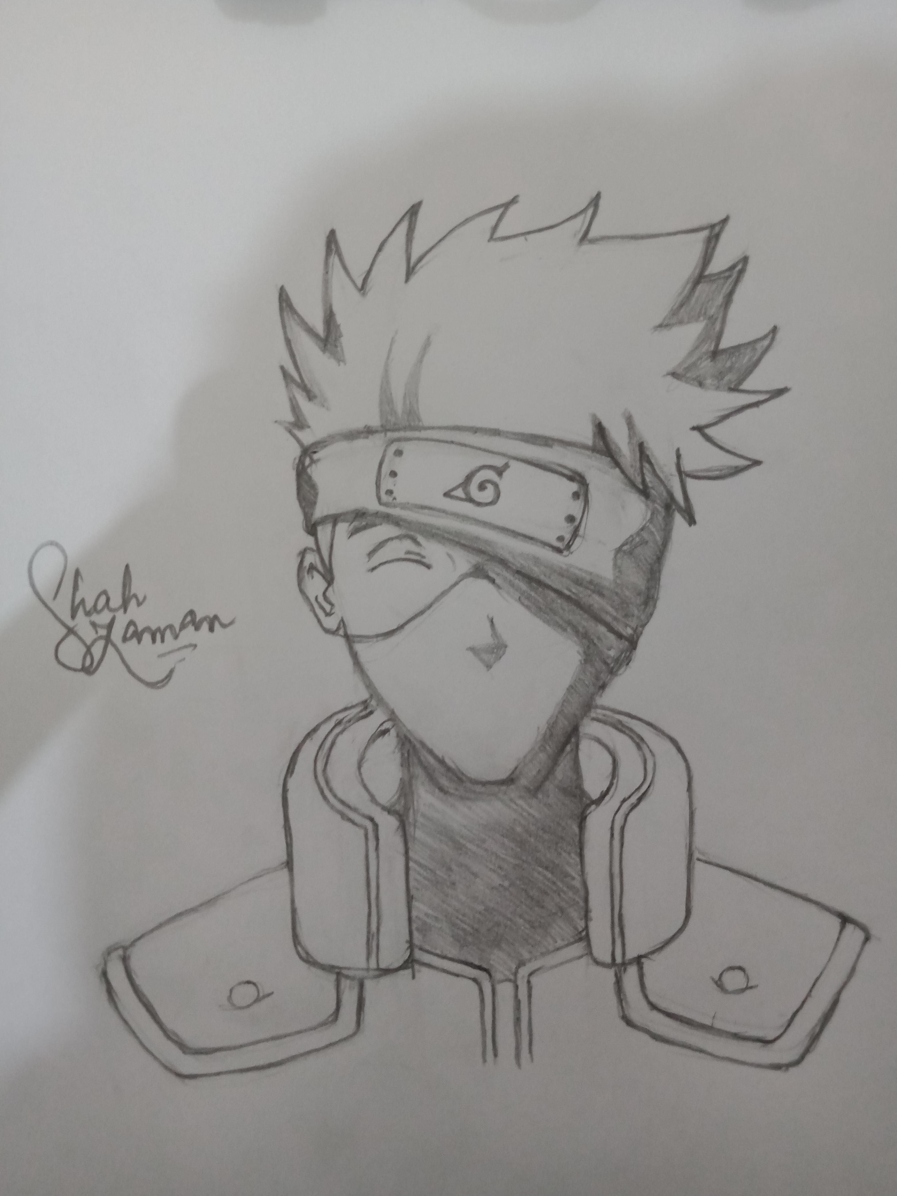 Kakashi Hatake Drawing : kakashi, hatake, drawing, Kakashi, Hatake, Drawing, Naruto